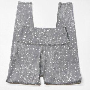 Aerie Play Leggings Silver Grey Star Print